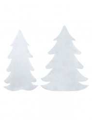Valkoiset kuusikoristeet huovasta 6 kpl