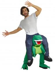 Mies dinosauruksen selässä - Carry Me asu aikuisille