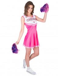Pinkki Cheerleader-asu aikuisille