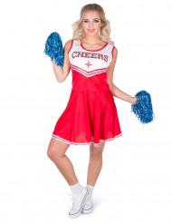 Punainen Cheerleader-asu aikuisille
