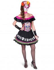 Värikäs Dia de los muertos-mekko aikuisille