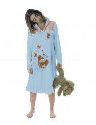 Zombie pyjamassa -aikuisten Halloween asu