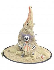 Säkkikankainen noidan hattu aikuiselle halloween