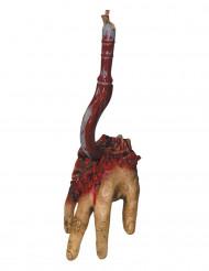 Verinen käsi koukussa- halloween- koriste