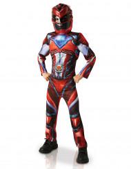 Punainen Power Rangers™ Deluxe -naamiaisasu lapsille
