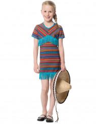 Meksikolainen turkoosi mekko tytölle