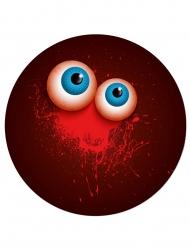 Punaiset halloween lautaset silmät 23 cm