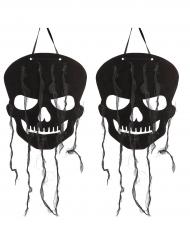 Pääkallo- halloween-koristeet 2 kpl