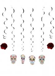 Dia de los muertos- riippukoristeet 120 cm 6 kpl