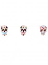 Pääkallo Dia de los muertos-koristenauha