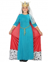 Keskiaikaisen kuningattaren naamiaisasu tytölle