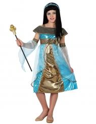 Sininen egyptiläinen naamiaisasu tytölle