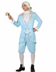 Barokkiprinssin sininen naamiaisasu miehelle