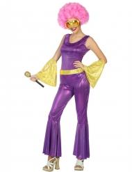 Violetti/kultainen holografinen discoasu naiselle