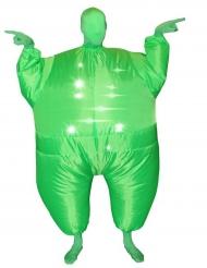 vihreä puhallettava Morphsuits™ asu valolla