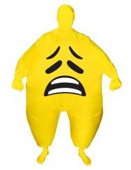 Surullinen Smiley - Aikuisten puhallettava Morphsuits™asu