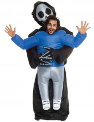 Mies viikatemiehen sylissä- Morphsuits™- asu halloweeniksi