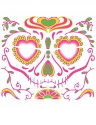 Siirtotatuointi kasvoille Dia de Los Muertos