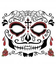 Siirtotatuointi kasvoille - Dia de Los Muertos meikki