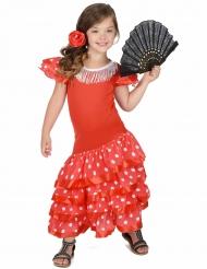 Punainen Flamencotanssijan asu lapsille