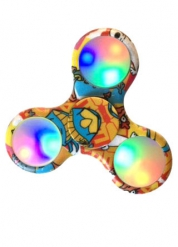 Comics Hand spinneri LED-valoilla
