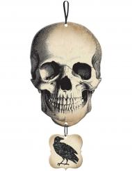 Pääkallo ja korppi halloween- koriste