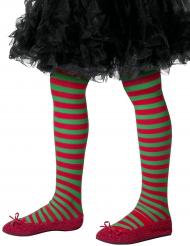 Vihreäpunaraidalliset sukkahousut lapselle