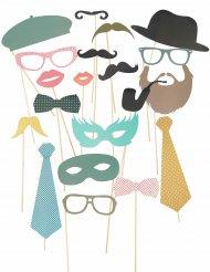Hipsteri photobooth-setti