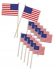12 USA:n lippua 11,5 x 7,5cm