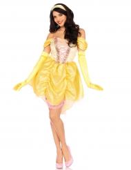 Maagisen prinsessan keltainen naamiaisasu naiselle