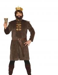 Keskiaikaisen kuninkaan naamiaisasu miehelle
