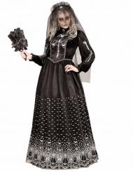 Goottiluurangon musta naamiaisasu naiselle halloween