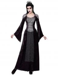 Tumman kuningattaren halloween- naamiaisasu naiselle