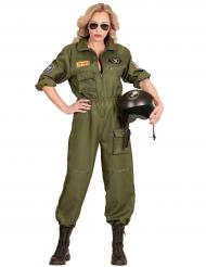 Sotilaslentäjän naamiaisasu naiselle