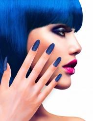 12 sinistä tekokynttä (glitter)