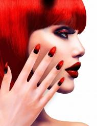 Itsestään liimautuvat punaiset tekokynnet naiselle