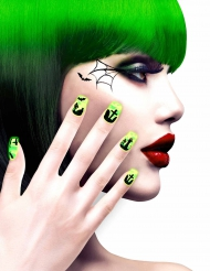 Hautausmaa- vihreät tekokynnet aikuiselle halloween