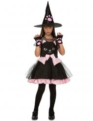 Kissanoidan naamiaisasu tytölle halloween