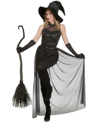 Mustan noidan naamiaisasu halloweeniksi