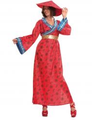 Kiinalainen asu naiselle punainen