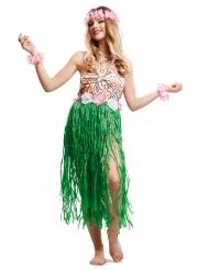 Havaijainen tanssija -naamiaisasu aikuiselle