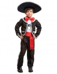 Mustapunainen meksikolainen naamiaisasu pojalle