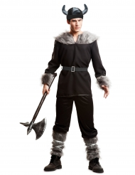 Musta viikingin naamiaisasu miehelle
