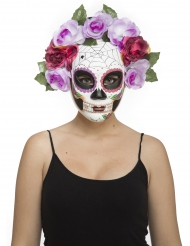 Luurangon Dia de los muertos- pastellisävyinen naamari aikuiselle
