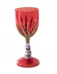 Punainen halloween- valolasi luurangon kädellä
