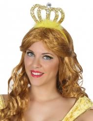 Prinsessan kullanvärinen diadeemi aikuiselle