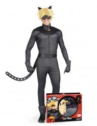 Miraculous™- musta kissa naamiaisasu aikuiselle
