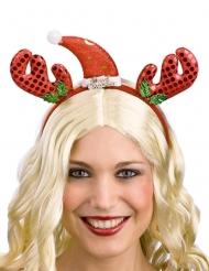 Jouluporon punainen hiuspanta aikuiselle