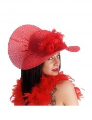 Elegantti punainen lierihattu