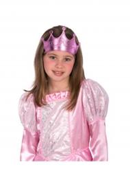 Prinsessan vaaleanpunainen kruunu tytölle